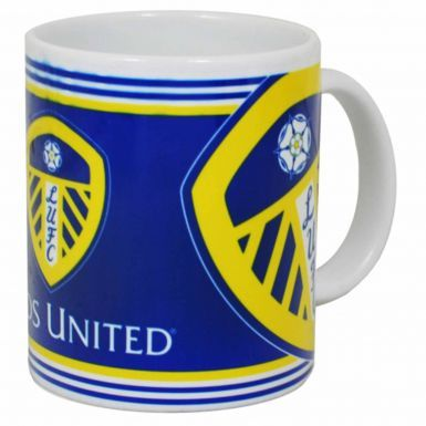 Official Leeds United Football Crest 11oz Ceramic Mug