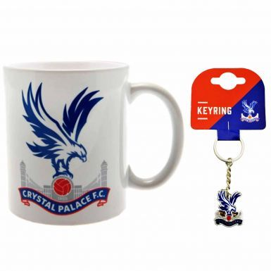 Official Crystal Palace Crest Ceramic Mug & Keyring Gift Set
