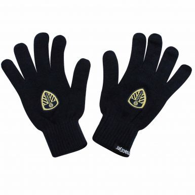 Official Leeds United Winter Gloves by Macron