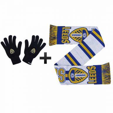 Leeds United Winter Scarf & Gloves Gift Set