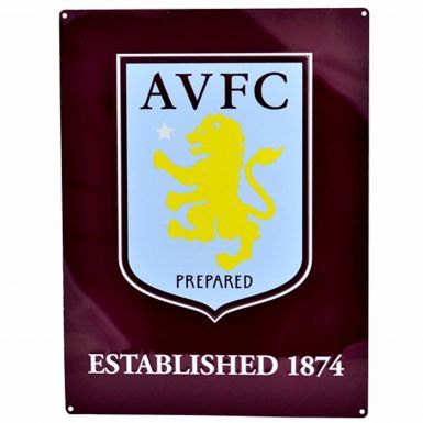 Large Aston Villa Crest Metal Sign