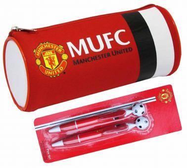 Manchester United Pencil Case & 2 Pen Set