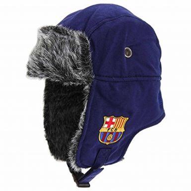 FC Barcelona Trapper Style Faux Fur Hat