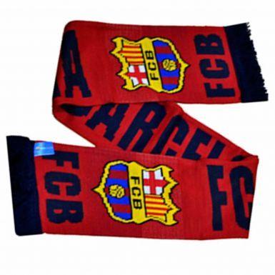 Official FC Barcelona Crest Soccer Scarf