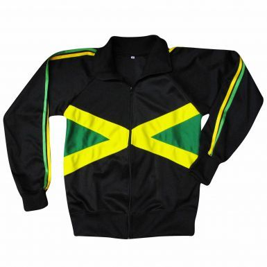 Jamaica Flag Zipped Leisure Top