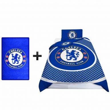 Chelsea FC Single Duvet Cover & Bedroom Rug Gift Set