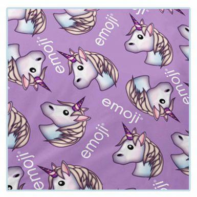 Official Emoji Unicorn Dreams Fleece Blanket (150cm x 100cm)