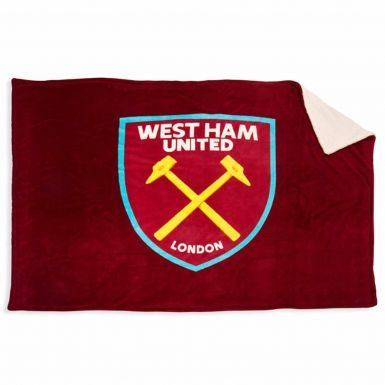 West Ham United Fleece Sherpa Blanket