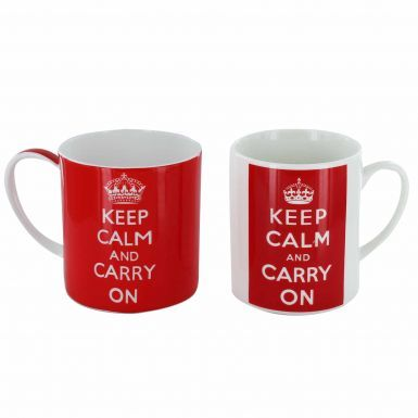 Keep Calm & Carry On Twin Mug Set (Seconds)