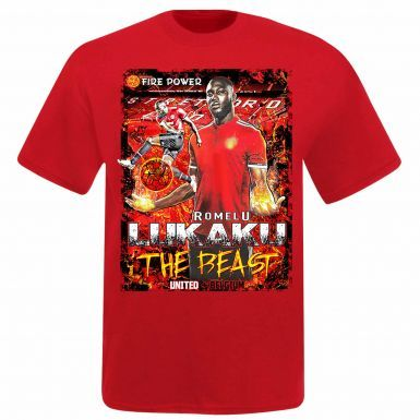 Romelu Lukaku & Man Utd Super Striker T-Shirt