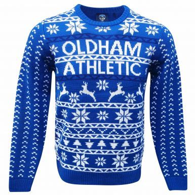 Official Oldham Athletic Unisex Christmas Jumper
