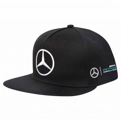 Official Mercedes AMG Petronas & Lewis Hamilton Flat Brim Cap