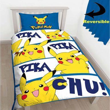 Pokemon Pikachu Reversible Single Duvet Cover Set