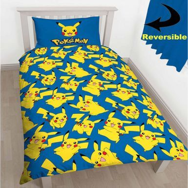 Pokemon Pikachu Reversible Single Duvet Cover Set