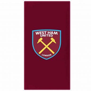Official West Ham United Crest Towel (75cm x 150cm)