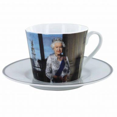 Queen Elizabeth II Cup & Saucer Gift Set