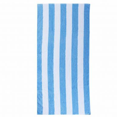 Giant Sky Blue & White Striped Premium Cotton Beach Towel