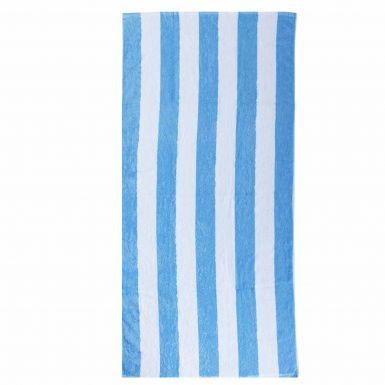 Giant Sky Blue & White Striped Premium Cotton Beach Towel