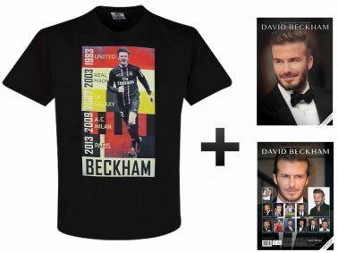 David Beckham 2018 Soccer Calendar & T-Shirt Set