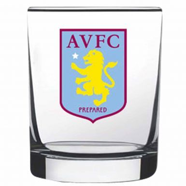 Official Aston Villa Whisky & Spirits Glass Tumbler