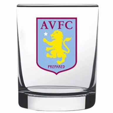 Official Aston Villa Whisky & Spirits Glass Tumbler