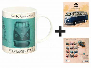 VW Campervan 2018 Calendar & Mug Gift Set