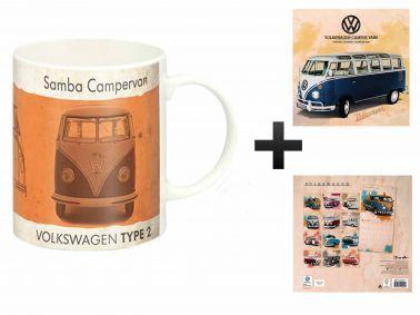 Official VW Campervan 2018 Calendar & Mug Gift Set