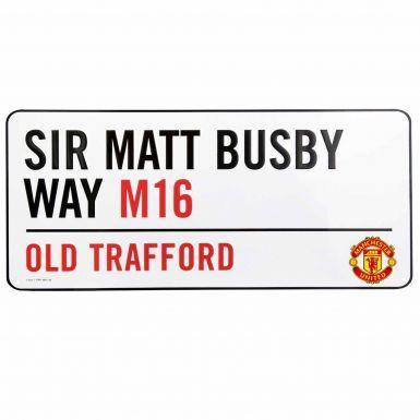 Man Utd Old Trafford Street Sign