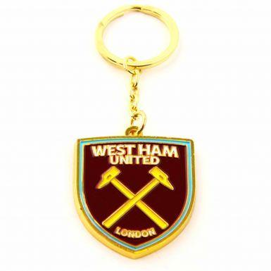 Official West Ham United Crest Enamel Keyring
