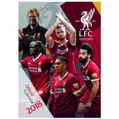 Official Liverpool FC 2018 Football Calendar