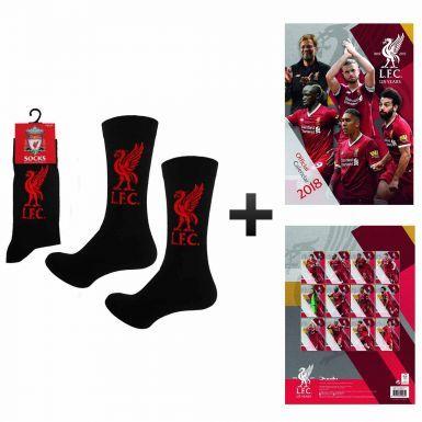 Official Liverpool FC 2018 Calendar & Socks Gift Set