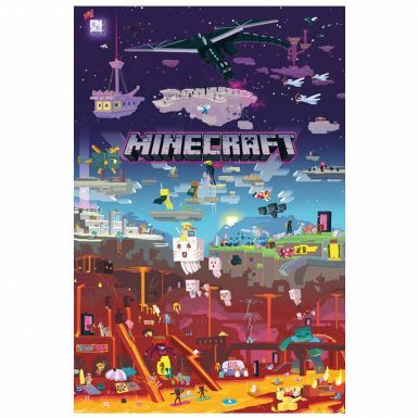 Giant MINECRAFT World Beyond Wall Poster (61cm x 91.5cm)