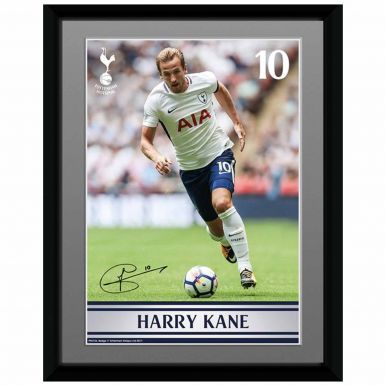 Official Harry Kane Autograph & Spurs Framed Print