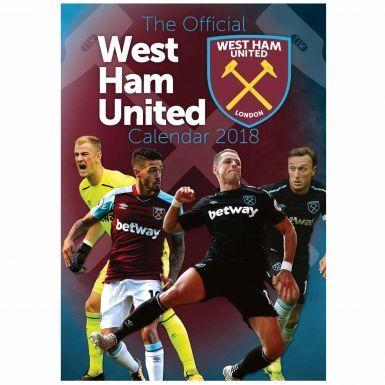 West Ham United 2018 Soccer Calendar
