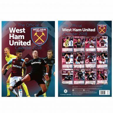 Official West Ham United 2018 Football Calendar