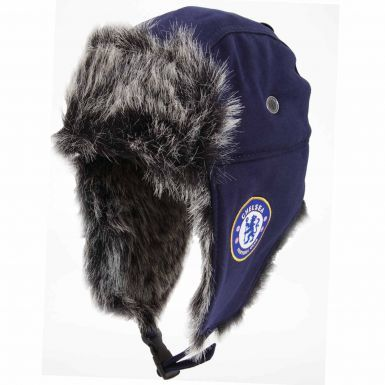 Official Chelsea FC Crest (Faux Fur) Trapper Hat