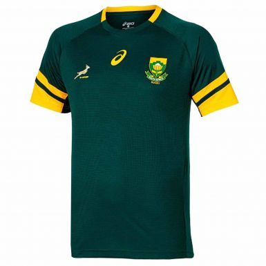 Official KIDS Springboks South Africa Rugby Shirt by ASICS