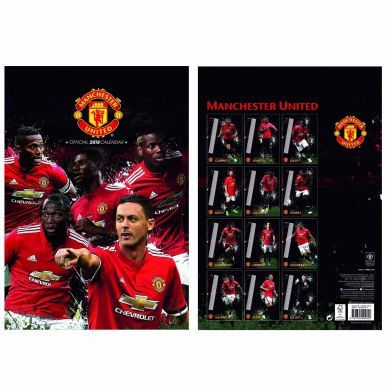 New Manchester United 2018 Soccer Calendar