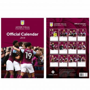Official Aston Villa 2018 Soccer Calendar