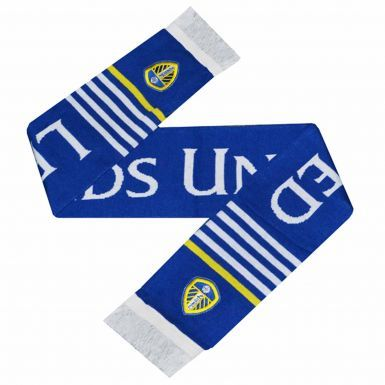 Official Leeds United Embroidered Crest Scarf