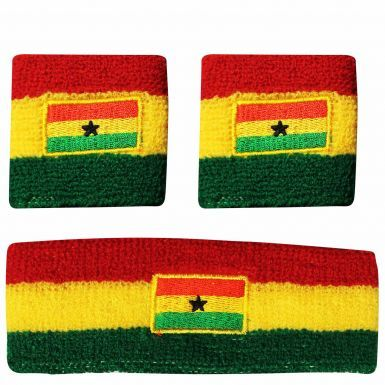 Ghana Black Stars Wristbands & Headband Set