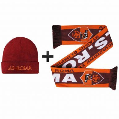 Official AS Roma Winter Warmers Hat & Scarf Set