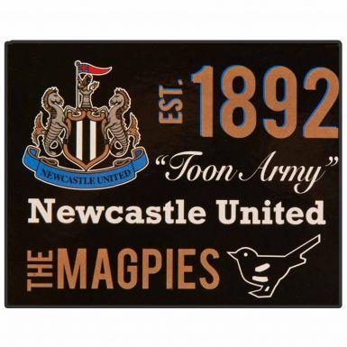 Giant Newcastle United Fleece Sherpa Blanket