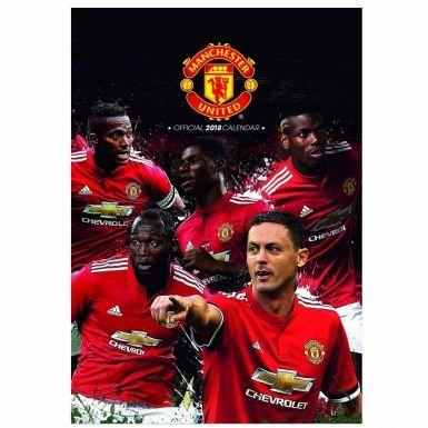 Official Manchester United 2018 Football Calendar
