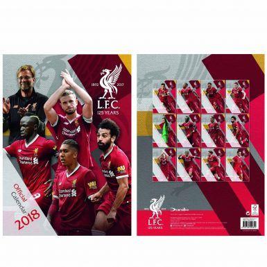Official Liverpool FC 2018 Soccer Calendar (A3)
