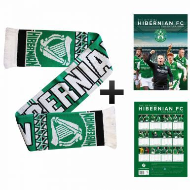 Hibernian FC 2018 Calendar & Scarf Gift Set