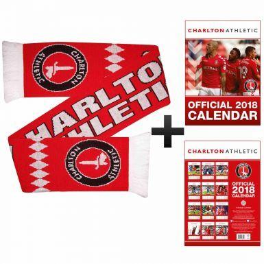 Charlton Athletic 2018 Calendar & Scarf Gift Set