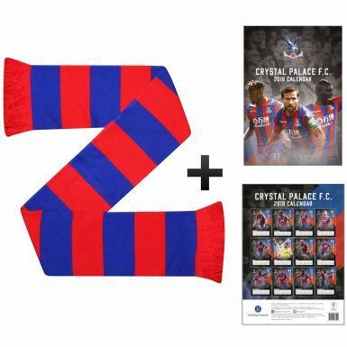 Crystal Palace 2018 Calendar & Scarf Gift Set