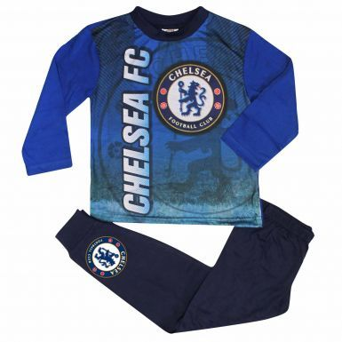 Kids Chelsea FC Crest Pyjamas With Full Colour Print