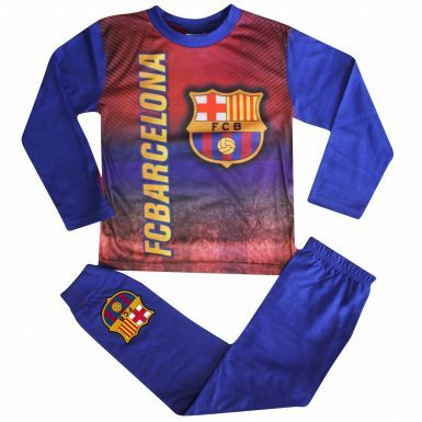 Kids FC Barcelona Crest (La Liga) Pyjamas With Full Colour Print
